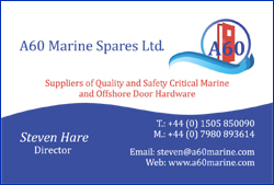 A60 Marine Spares Ltd. – suppliers of quality and safety critical Marine and Offshore Door Hardware.