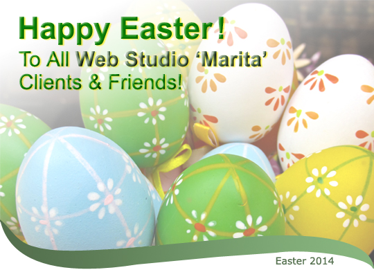 Happy Easter! to all Web Studio 'Marita' Clients & Friends!