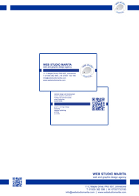 Web Studio Marita business card and letterheads