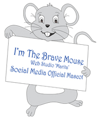 Meet a Brave Mouse – Web Studio Marita official social media mascot