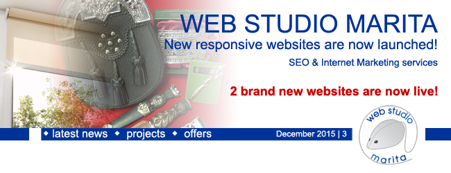 Web Studio 'Marita' newsletter | New responsive website is now launched! SEO & Internet Marketing services | December 2015 | 3