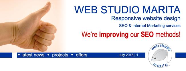 Web Studio Marita newsletter | We are improving our SEO methods! | July 2016 | 1
