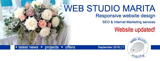 Web Studio Marita newsletter | Website Updated | September 2016 | 1