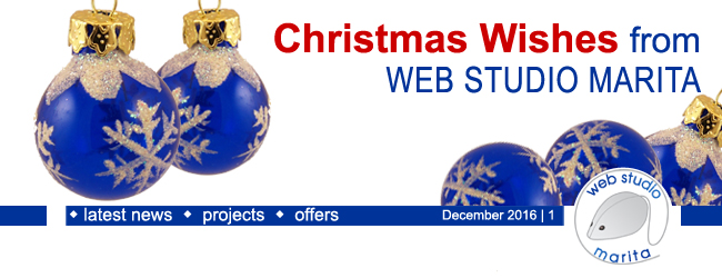 Christmas Wishes from WEB STUDIO MARITA | December 2016 | 1