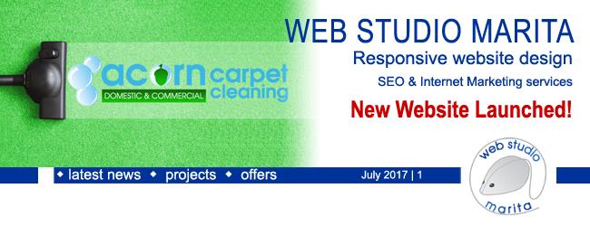 Web Studio 'Marita' newsletter | Rebranding! New Website Launched! | July 2017 | 1
