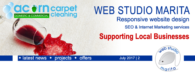Web Studio 'Marita' newsletter | Supporting Local Businesses | July 2017 | 2