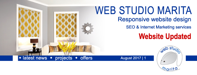 Web Studio 'Marita' newsletter | Website updated | August 2017 | 1