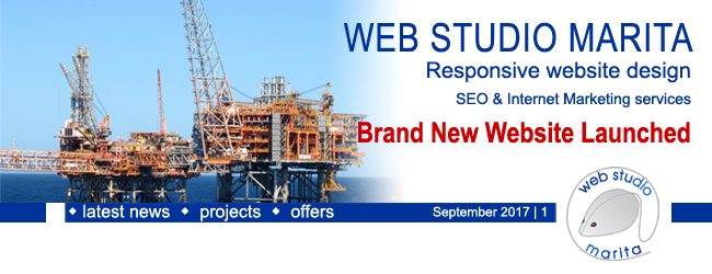 Web Studio 'Marita' newsletter | Brand New Website Launched | September 2017 | 1