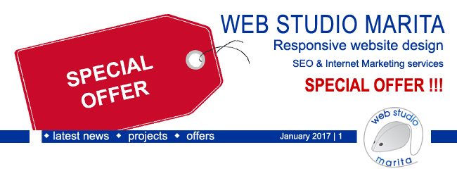 Web Studio 'Marita' newsletter | Special Offer | January 2017 | 1