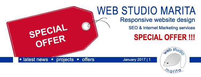 Web Studio 'Marita' newsletter | Special Offer | January 2017 | 1