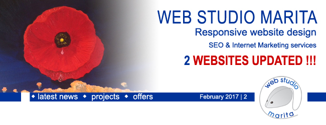 Web Studio Marita newsletter | 2 Websites updated | February 2017 | 2