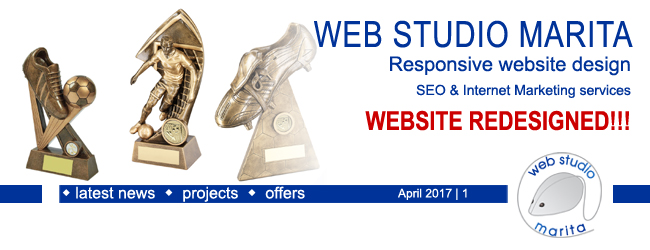 Web Studio Marita newsletter | New Website Is Launched & Another Is Back On The Market | April 2017 | 1