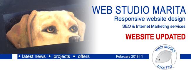 Web Studio 'Marita' newsletter | Website Updated | February 2018 | 1