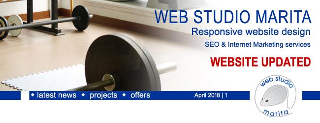Web Studio 'Marita' newsletter | Website Updated | April 2018 | 1
