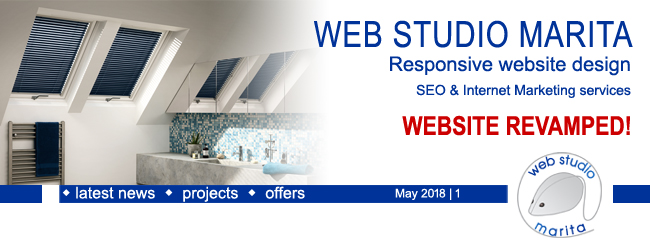 Web Studio 'Marita' newsletter | Website Revamped | May 2018 | 1