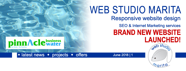 Web Studio 'Marita' newsletter | BRAND NEW website launched | June 2018 | 1