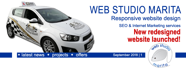 Web Studio 'Marita' newsletter | Website Redesigned | September 2018 | 1