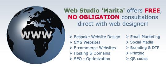 Web Studio 'Marita' offers FREE, NO OBLIGATION consultations direct with web designer!