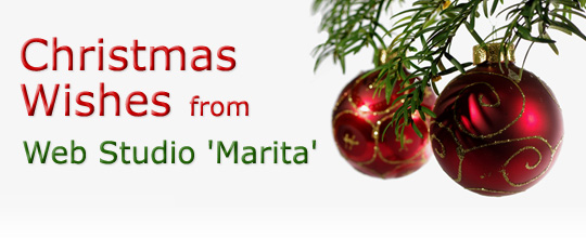 Christmas Wishes from Web Studio 'Marita' | December 2013 \ 2