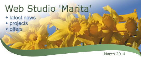 Web Studio 'Marita' newsletter | latest news, projects, offers | March 2014