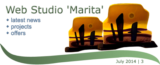 Web Studio 'Marita' newsletter | latest news, projects, offers | July 2014 /3