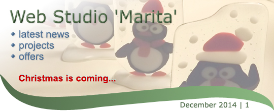 Web Studio 'Marita' newsletter | latest news, projects, offers | December 2014 / 1