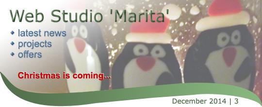 Web Studio 'Marita' newsletter   latest news, projects, offers   December 2014 / 3