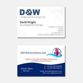Business Cards Paisley Renfrewshire