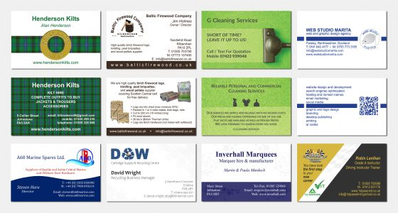 Graphic Design Branding Business Cards Paisley Renfrewshire