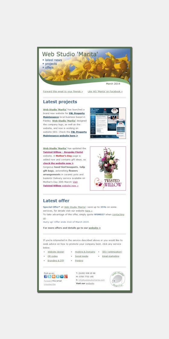 HTML Emails | Email-Marketing Paisley Glasgow Renfrewshire Scotland